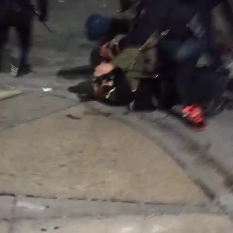 Vine by Keegan Stephan - Vine: cops assault member of press Joe Giordano at #FreddieGray demo in Baltimore last night (via IG: jmgiordanophoto).