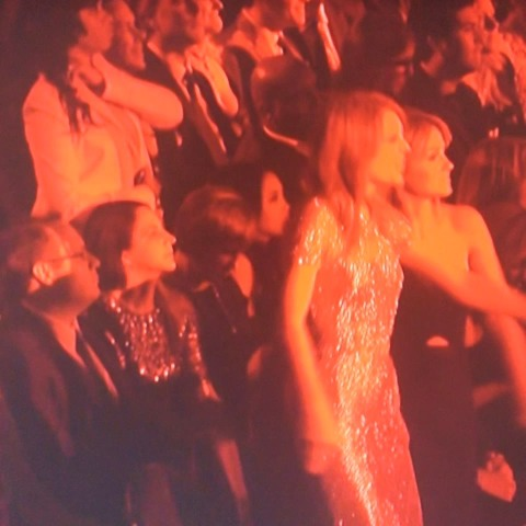 Taylor Swift is REALLY enjoying this performance. #GRAMMYs