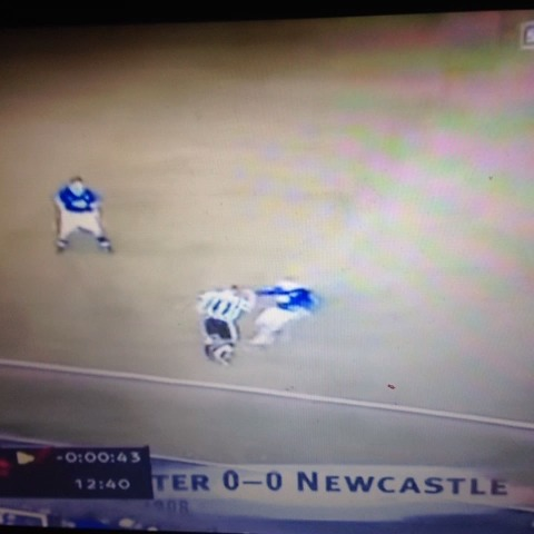 Vine by Niall Temple - Alan Shearers comments on Suarezs bite played over his own head kick on Neil Lennon. The irony is, Alan Shearer got away with this.