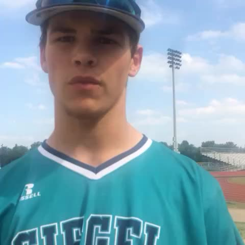 Vine by dnj_sports - Siegel shortstop Drew Benefield on the keys for game two against Summit. Winner advances to title game.