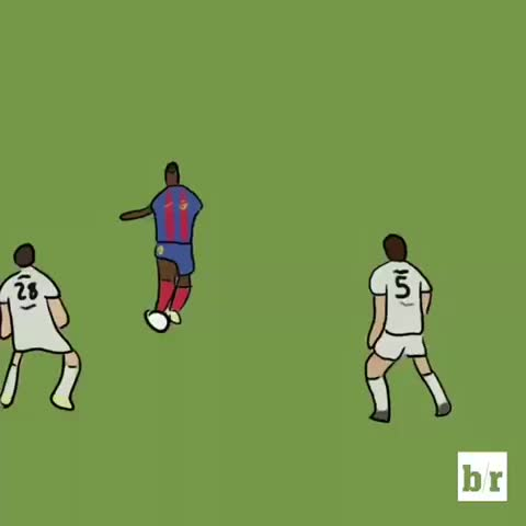 Vine by Bleacher Report UK - Leo Messis first goal for Barcelona, Ronaldinho with the assist