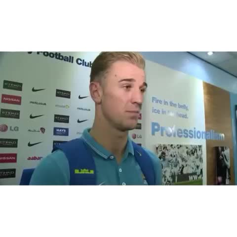 Joe Hart Fanss post on Vine - Funny how he still continues on with the interview #joehart #mcfc - Joe Hart Fanss post on Vine