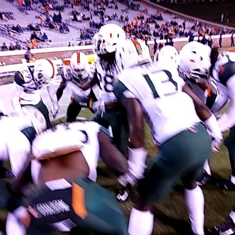 Fentress fires up the DBs #BeatUVa - Miami Hurricaness post on Vine