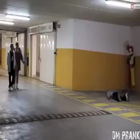This is the most terrifying clown prank of all time. Just try to walk through a parking garage again... - iAustinHunts post on Vine