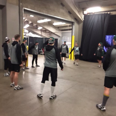 KARE 11s post on Vine - Pregame warm-ups for #mnwild players at Pepsi Center an hour before game 1 - KARE 11s post on Vine