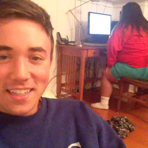 Cody Reetzs post on Vine - Holy shit, Angie no!!!!!! ayecarrillo #scarecam #no #angie - Cody Reetzs post on Vine