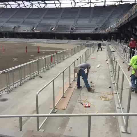 Dave Kavals post on Vine - Safe standing supporters section going in #BuildingItNow San Jose Earthquakes - Dave Kavals post on Vine