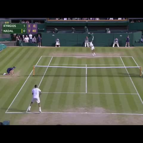 Vine by PEOPLE ARE AWESOME - Nick Kyrgios is a boss #tennis #Wimbledon #amazing
