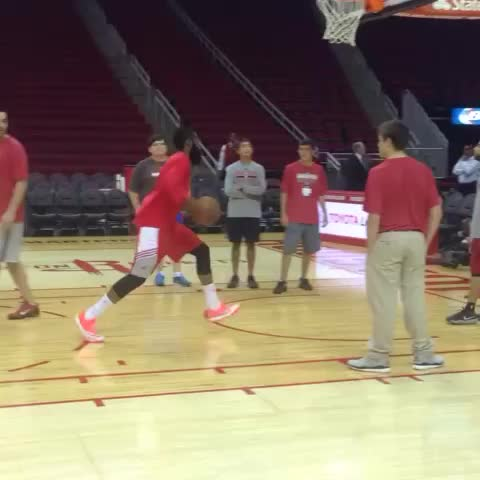 How do you know James Harden is finished warming up? The finishing dunk. - Houston Rocketss post on Vine