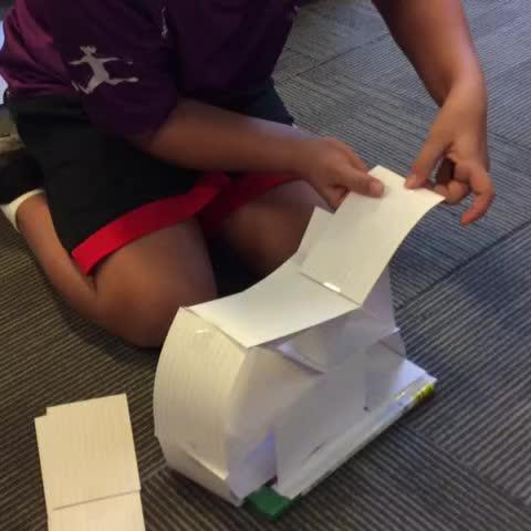Index Card Tower / STEM challenge #SISRocks - Nickis post on Vine