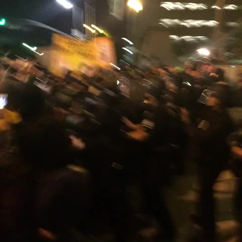 Crowd fighting LAPD - Ryan Parkers post on Vine