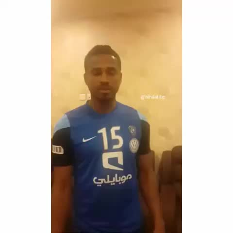 Hilalstuffs post on Vine - فيديو #الزلزال ناصر يطالب الجماهير بالتشجيع مع انطلاق صافرة الحكم  تصوير @abofahad053 😍💙💙 - Hilalstuffs post on Vine
