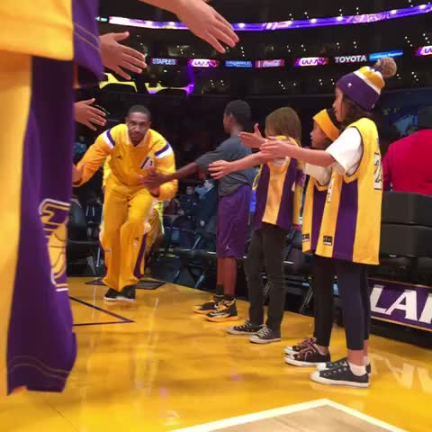 Minutes away from tipoff. - Lakerss post on Vine