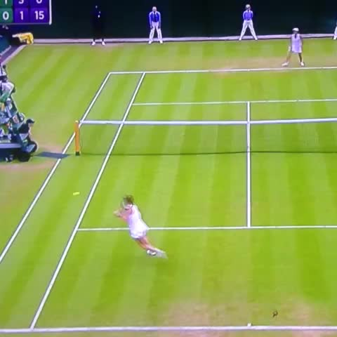 Vine by Giulio Fedele - Halep few centemeters away from the shot of the tournament 😳