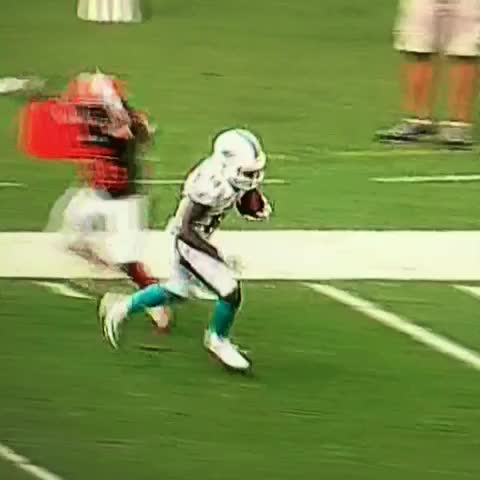 Vine by Mr. Blonde - Jarvis Landry with the Miami Dolphins touchdown and some goal post love #finsup