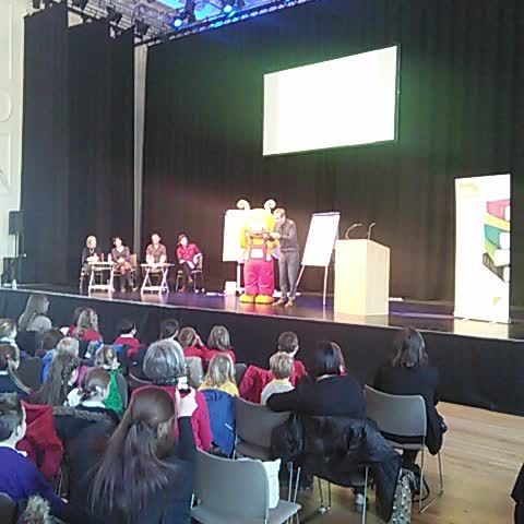Vine by Scottish Book Trust - The moment Bookbug revealed the winner of 2015 Scottish Childrens Book Award... #scba15