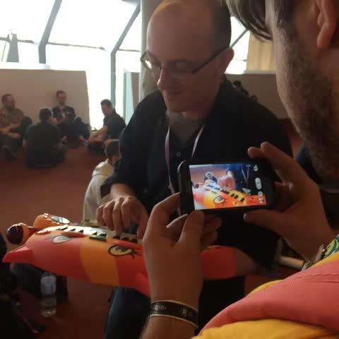 .@quaverr plays Axel F on catboard #PAXAus - Ben Ks post on Vine
