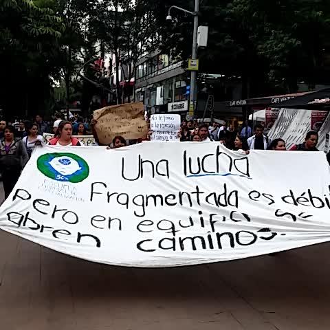 Vine by Coordinadora1DMX - Maestros escucha tu alumno está en la lucha IPN UNAM UAM UACM hacia marcha CNTE #AbajoReformaEducativa