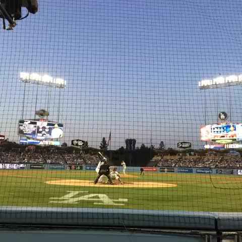 Ball almost took my face off! #Dodgers - ScottWarners post on Vine