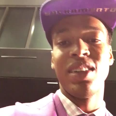 """Vine by The NBA on ESPN - """"I am a Sacramento King,"""" - Skal Labissiere, in Creole  #NBADraft"""