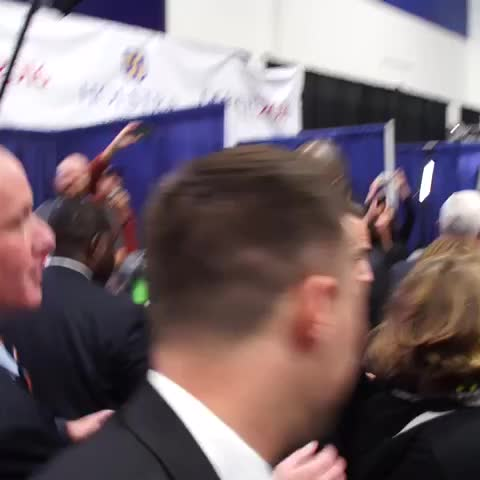 Vine by Dalton Bennett - Scrum pleasantries. The show hasnt even started but things are off to a great start #debates