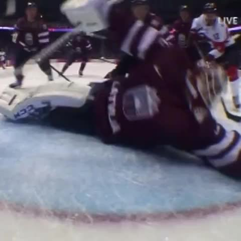 BuzzFeed Sportss post on Vine - Even though Latvia lost, this incredible AND illegal save was the best save of the Olympics. - BuzzFeed Sportss post on Vine