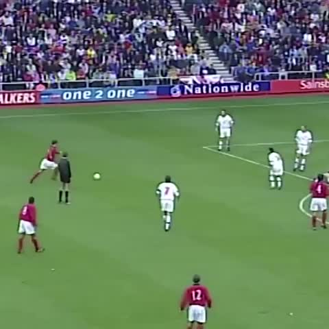 Vine by England - Jamie Redknapp scores with a thunderous effort in the #ThreeLions 2-1 win over Belgium at the Stadium of Light in 1999.
