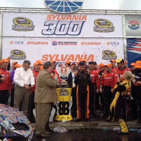 "Watch NASCAR's Vine ""Winner, winner, lobster dinner! #NASCAR"""
