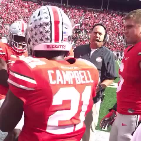 Vine by Ohio State Football - That feeling when you score your first touchdown.