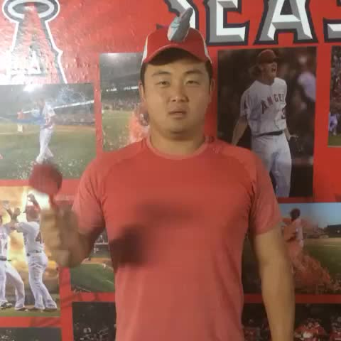 Los Angeles Angelss post on Vine - Hank demonstrates the proper uses of the Rally Drum. We expect the crowd to be extra loud #AtTheBigA tonight. - Los Angeles Angelss post on Vine
