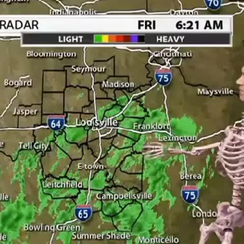 Ryan Brodericks post on Vine - WDRBs weatherman is the spoopiest thing Ive ever seen. - Ryan Brodericks post on Vine