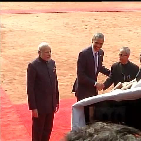 Vine by ANI - Great honour, so grateful for the extraordinary hospitality: US President Obama #ObamaInIndia