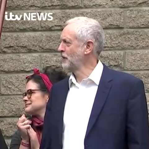 Vine by ITV News - Jeremy Corbyn MP gets the party started 💃