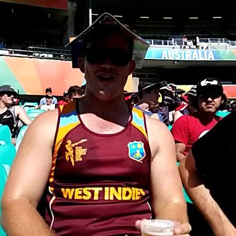 Vine by Cricket World Cup - Plenty of stars on show at the SCG, who is your favourite? #cwc15 #SAvWI