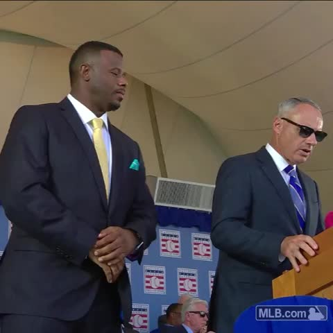 Vine by Seattle Mariners - The commissioner makes it official. #JrHOF