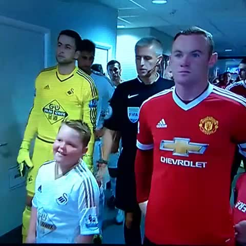 Vine by GrahamGham - #motd2, bless him! Swansea Mascot realises hes stood next to Rooney