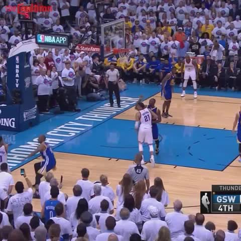 Vine by The Cauldron - Russell Westbrook hits a dagger corner three to put the Thunder up by 23
