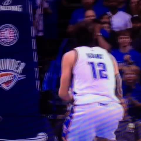 Vine by RealGM - Two great angles of Steven Adams dunking on Draymond Green.