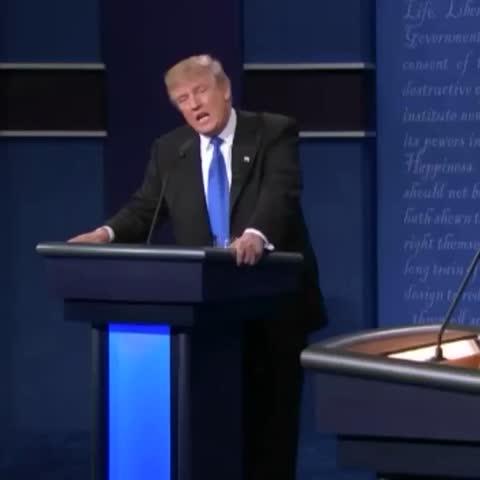 Vine by CNN Politics - #DonaldTrump burns #HillaryClinton on ISIS. 🔥 #CNNRealityCheck: Trumps accusation is false.