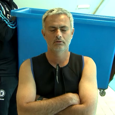 Chelsea FCs post on Vine - Jose Mourinho accepts the #ALSIceBucketChallenge from Didier Drogba and Lebo Mohuba. He nominates his daughter, Bryan Adams & James McAvoy. - Chelsea FCs post on Vine