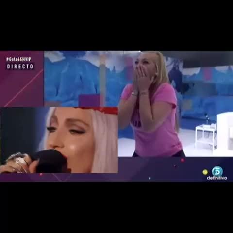 Vine by abel_kills - Yo cuando Gaga cantó Born This Way en los VMAs. #ladygaga #belenesteban #ghvip