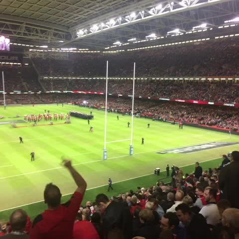 Welsh Rugby Unions post on Vine - Massive atmosphere here today, bread of heaven echoing around the stadium #WALvNZL - Welsh Rugby Unions post on Vine