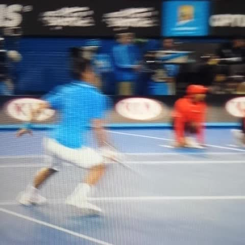 Vine by Tony - Here is the Novak fall from earlier. Novak getting treatment on thumb.