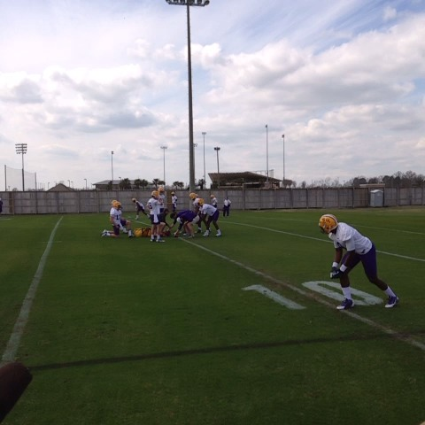 Brandon Harris with some tosses. #LSU - Ross Dellengers post on Vine