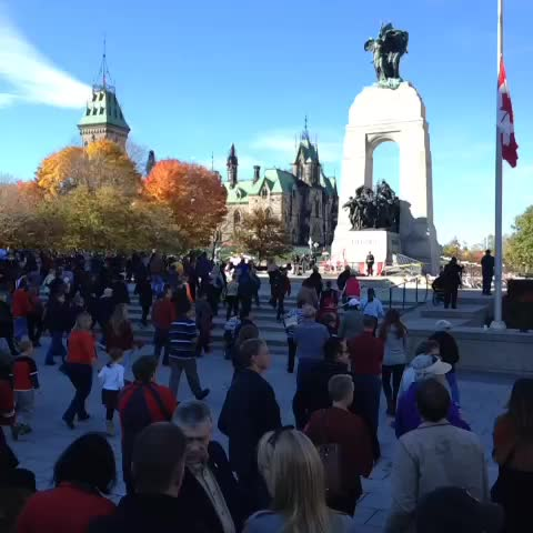 Giacomo Panicos post on Vine - Public advances to pay respects at National War Memorial #OttawaStrong - Giacomo Panicos post on Vine