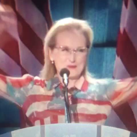 Vine by Azi - Meryl Streep after @BillClintons speech. #DNCinPHL