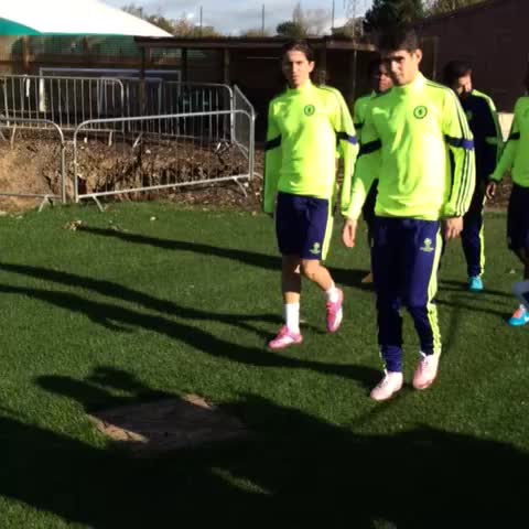 Chelsea FCs post on Vine - Four Brazilians make their way out to training... #CFC - Chelsea FCs post on Vine