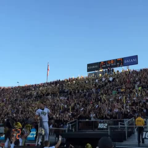 Student section is loving it! #ChargeOn #UCFHC - UCF Knightss post on Vine