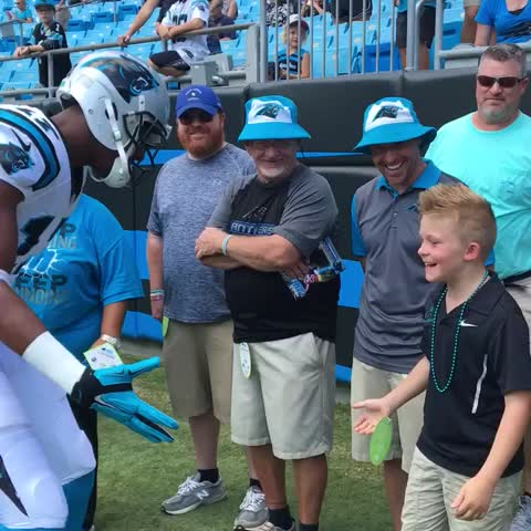 Vine by Carolina Panthers - Coach Beam in the house!