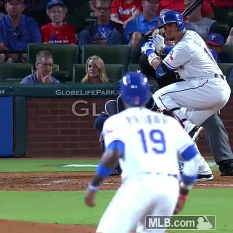 Vine by Texas Rangers - Think he got all of it? 💪